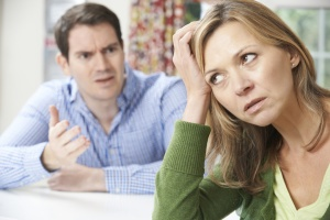 Couple Having Arguement At Home
