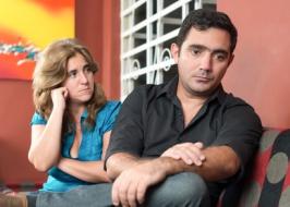 Divorce, marital problems - Sad husband and wife